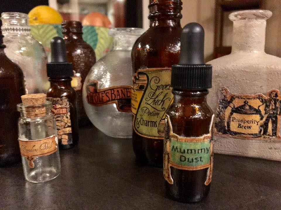 "Again, do a Pinterest search for ""cheap bottles"" and you'll get some great results! Of course, the other option is to recycle old spice, vinegar and condiment bottles. I wanted some amber colored bottles, so I got my supplies from  Specialty Bottle"