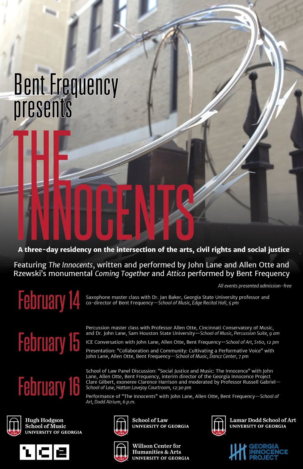 UGA Residency: The Innocents - Bent Frequency with Allen