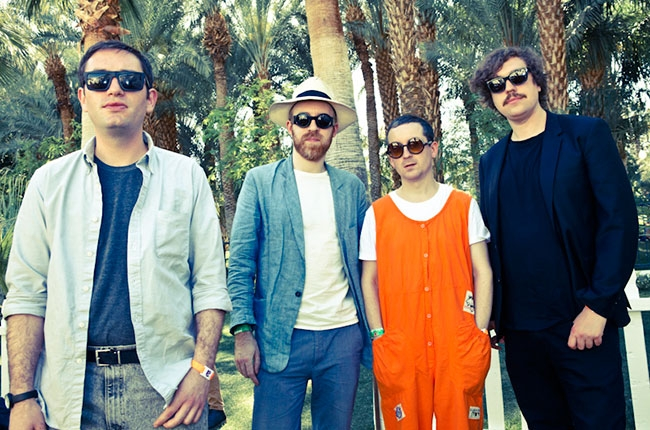 Hot Chip, Backstage at Coachella,  Billboard.com  Photographer: Catie Laffoon