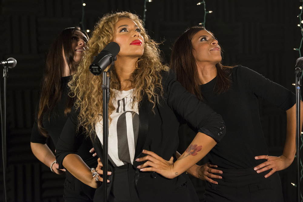 Leona Lewis, performing at the Billboard Studio