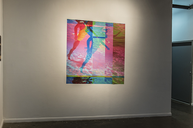 Installed at 500X Gallery, 2015