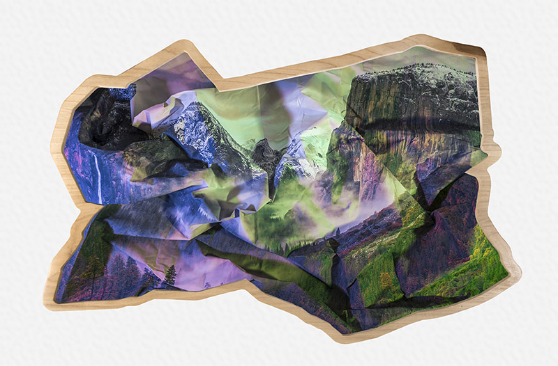 Mountains (purple & green), 2017
