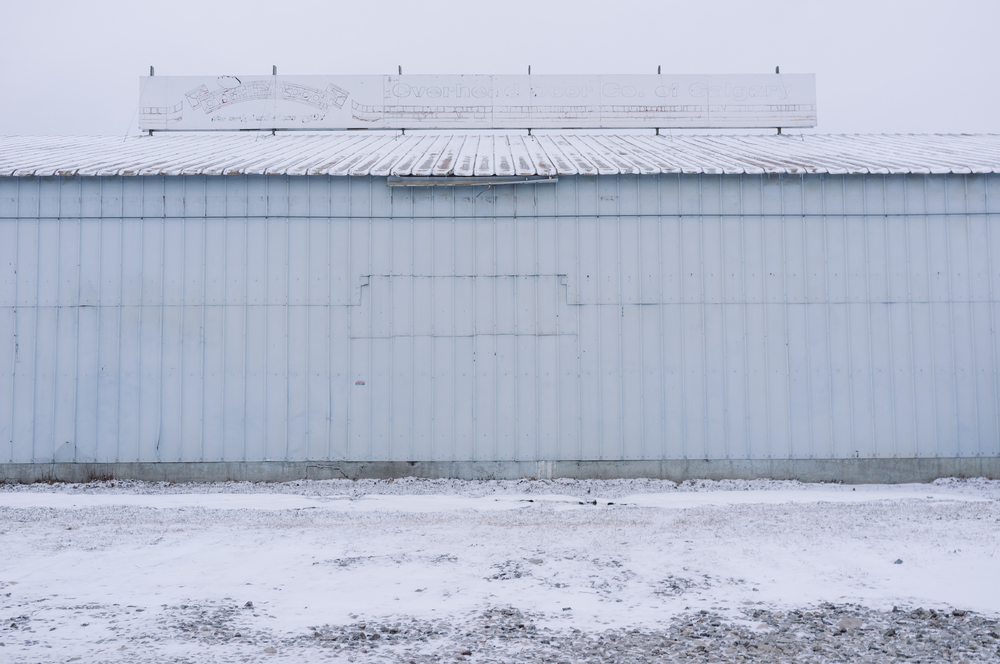 Revisiting old, favourite locations. Overhead Door. Ramsay, Calgary, Alberta, 2013.