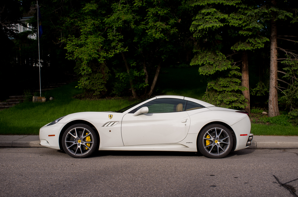 Ferrari California, high and dry. The streets up and out of the evac zones were littered with cars—some quite indicative of the real estate values at risk.