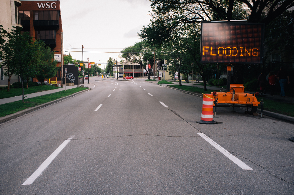 Evacuation notice.5 Street SW at 15 Avenue.