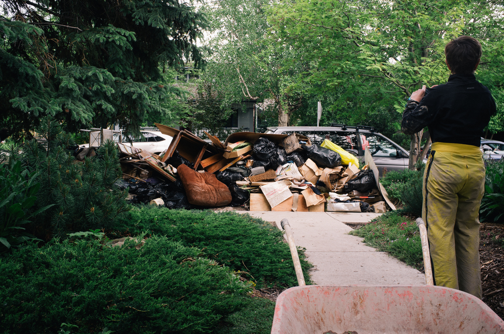 The remains of a flooded basement in Elbow Park.