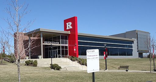 Rutgers University visitors center on the Busch campus.