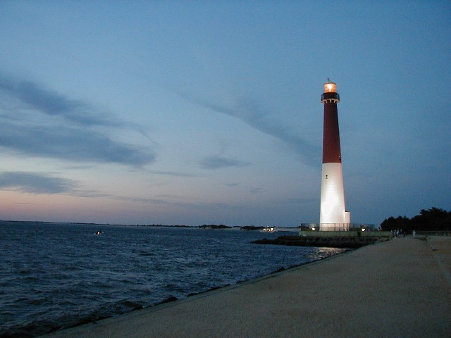 Barnegat Lighthouse in Barnegat Light, Long Beach Island, New Jersey.