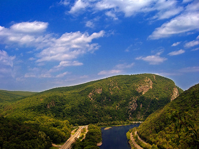 Delaware Water Gap, as seen from the Appalachian Trail at Mount Minsi, Pennsylvania
