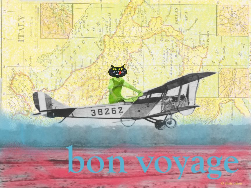 Bon Voyage: Collage/Mixed Media