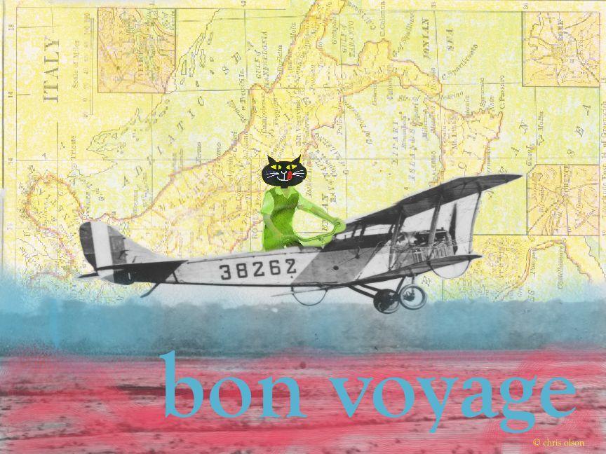 Bon Voyage Collage by Chris Olson