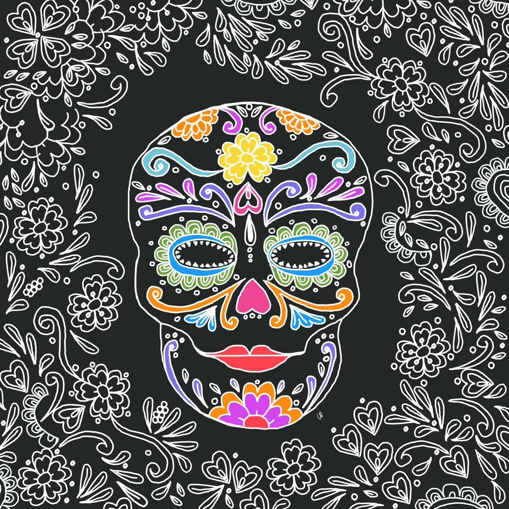 Sugar skull art.