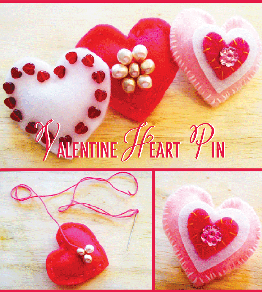 Valentine Heart Pin Craft
