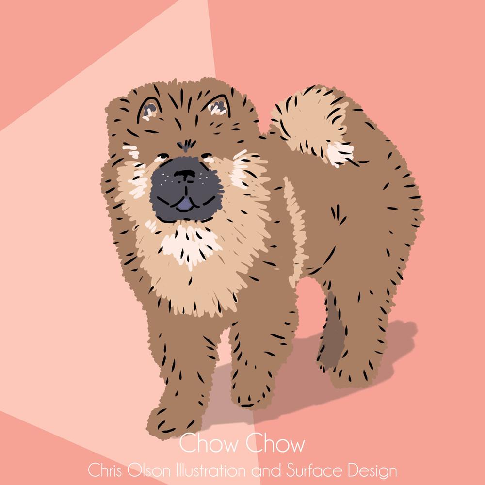 Chow Chow dog art by Chris Olson