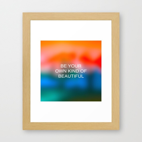 Be your own kind of beautiful. Framed wall art by Chris Olson at Society6. You can select your favorite print and have it framed in a variety of sizes and frame styles.