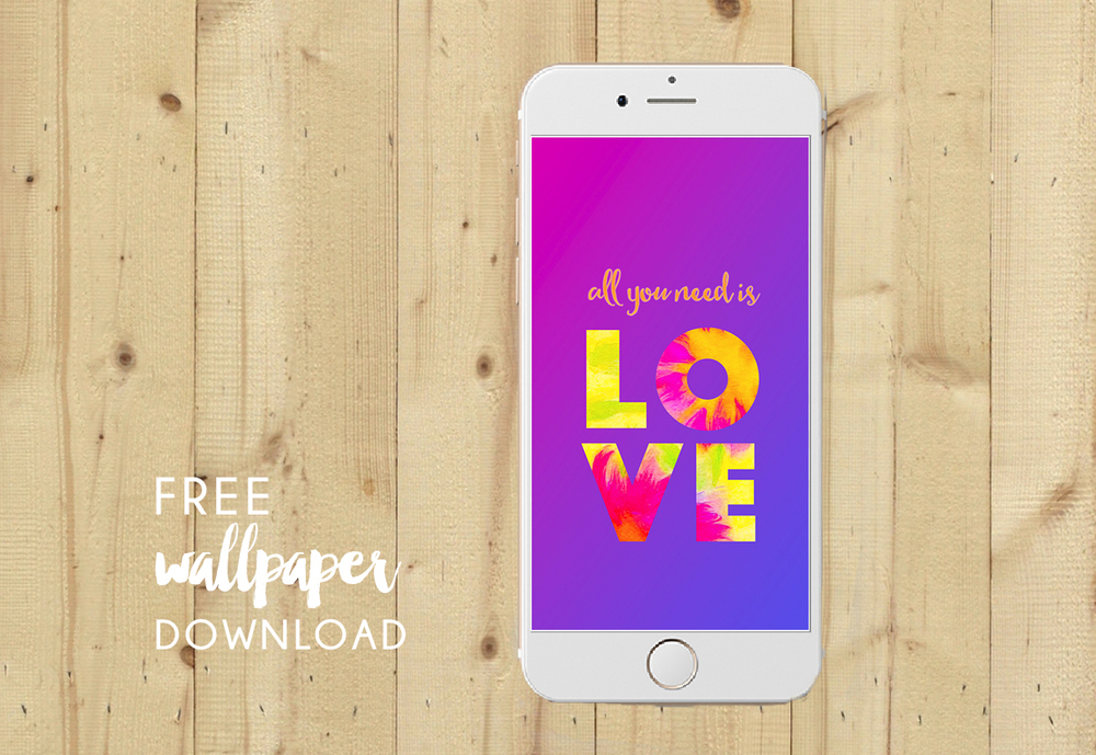 New ALL YOU NEED IS LOVE wallpaper to dress your tech.