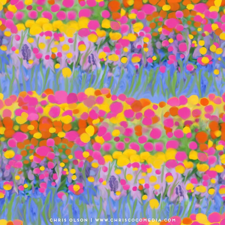 Wildflower meadow surface design