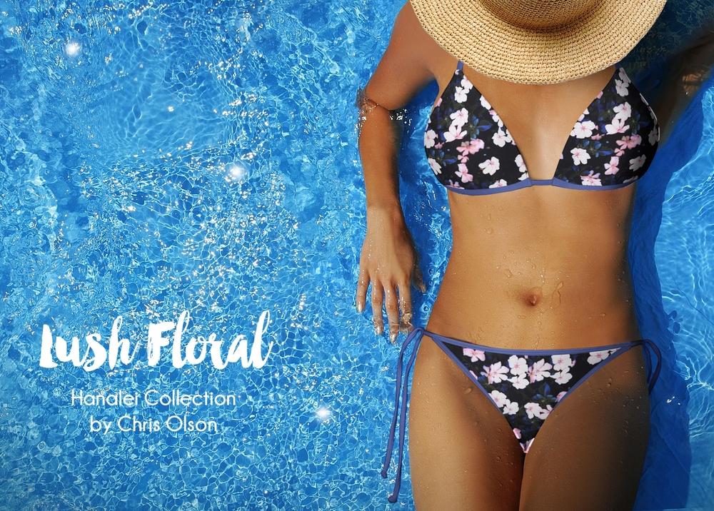 Lush Floral textile design by Chris Olson