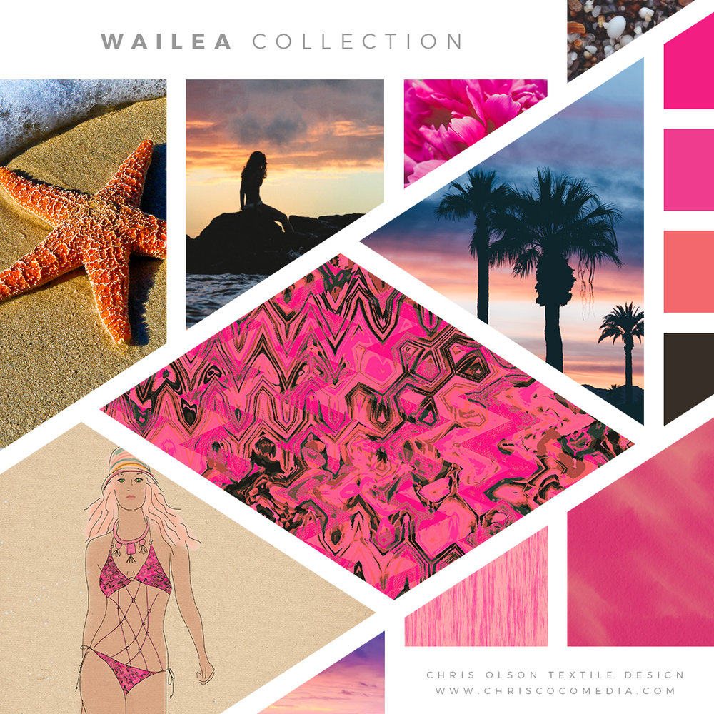Ready for sun and surf. Wailea collection for activewear by Chris Olson.
