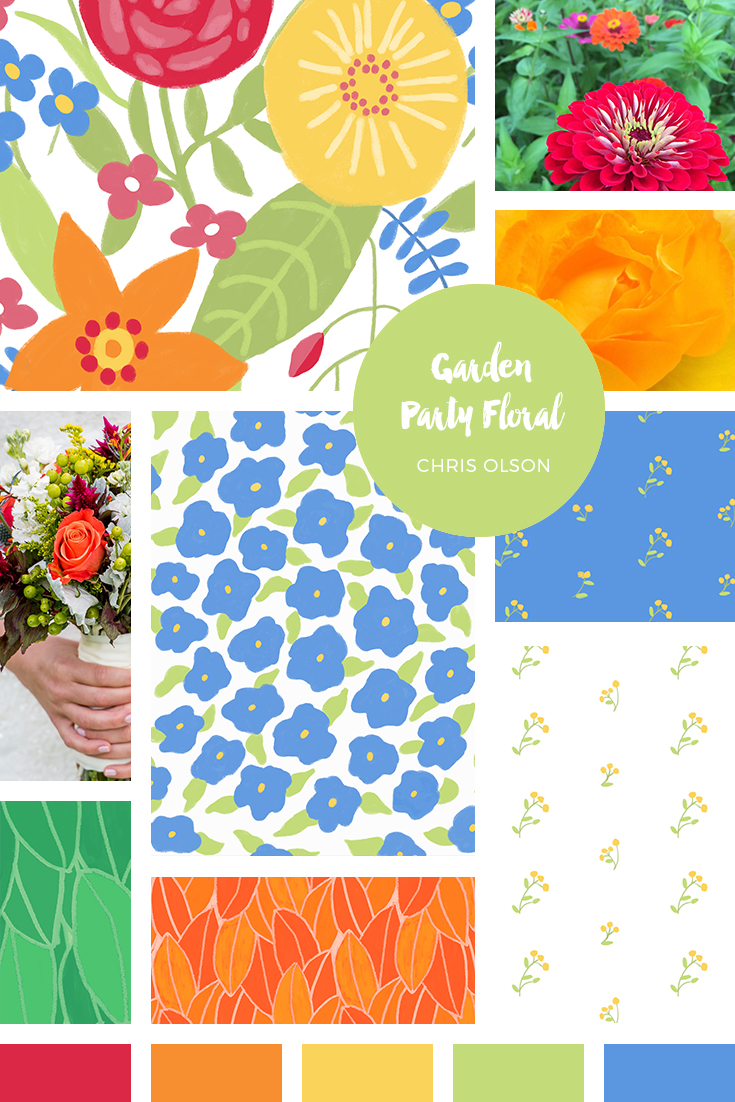 Garden Party Floral Collection by Chris Olson