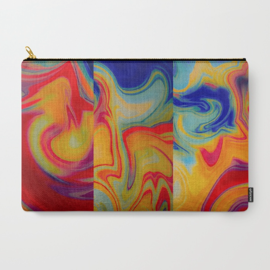 Marble Waves pattern on a  carry-all pouch  by Chris Olson.