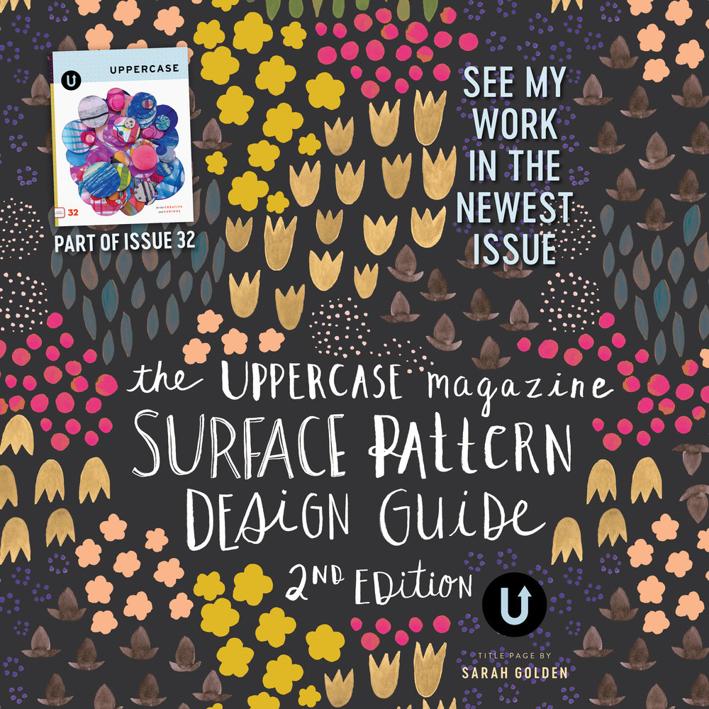 Chris Olson is featured in the UPPERCASE Surface Pattern Design Guide