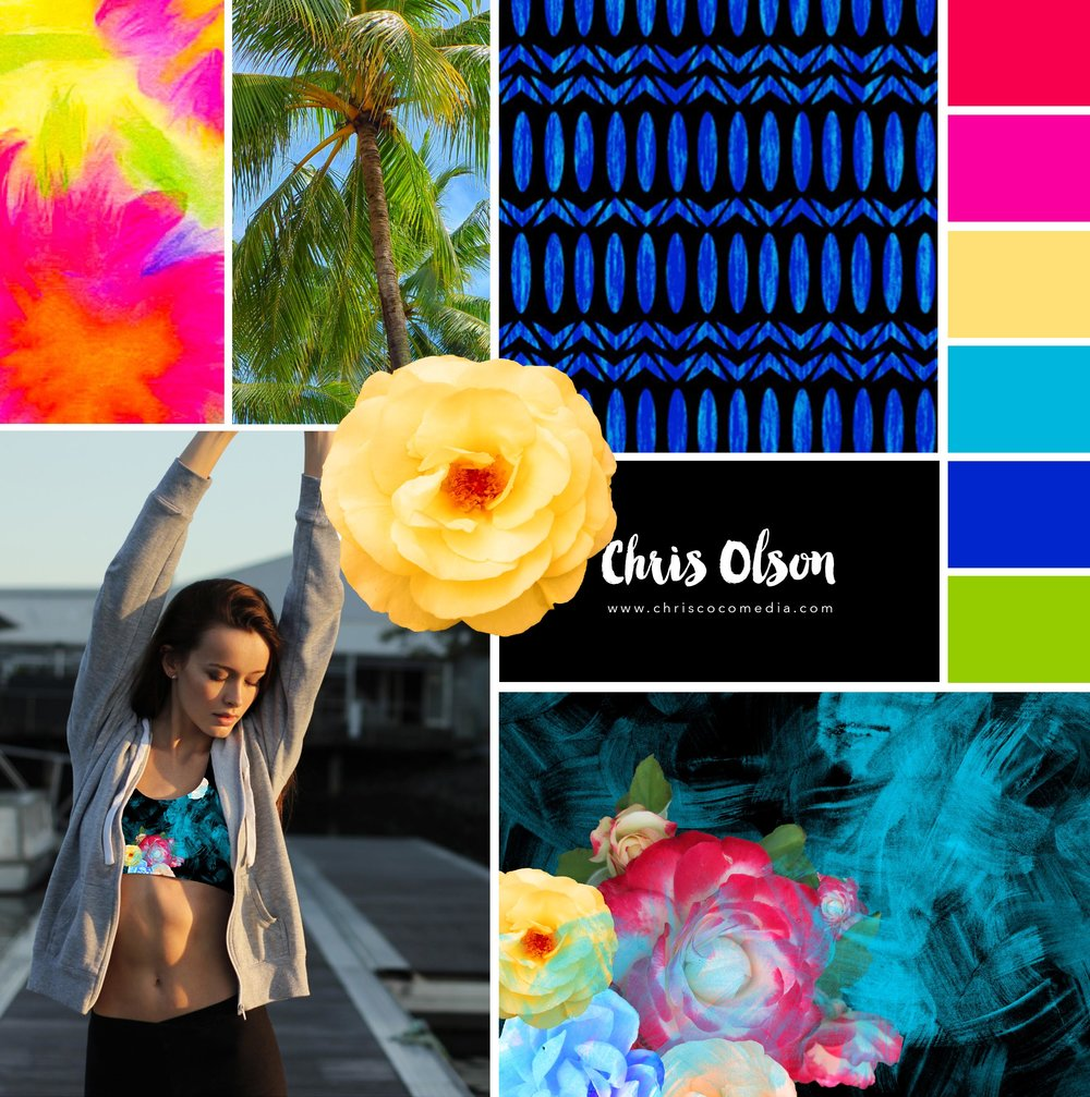 Activewear textiles by Chris Olson
