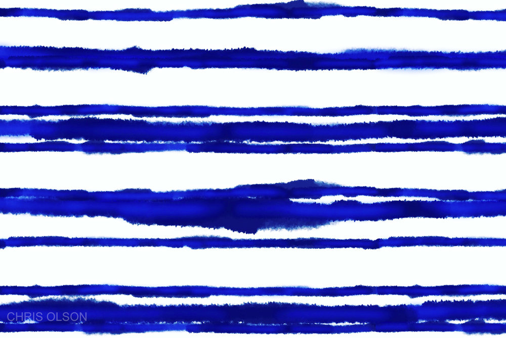 Indigo Wash Stripes by Chris Olson