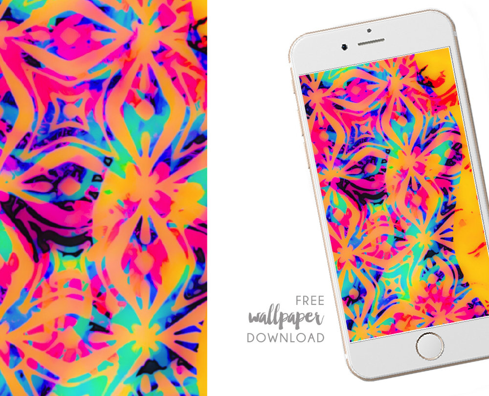 Feeling Groovy Wallpaper for your iPhone by Chris Olson