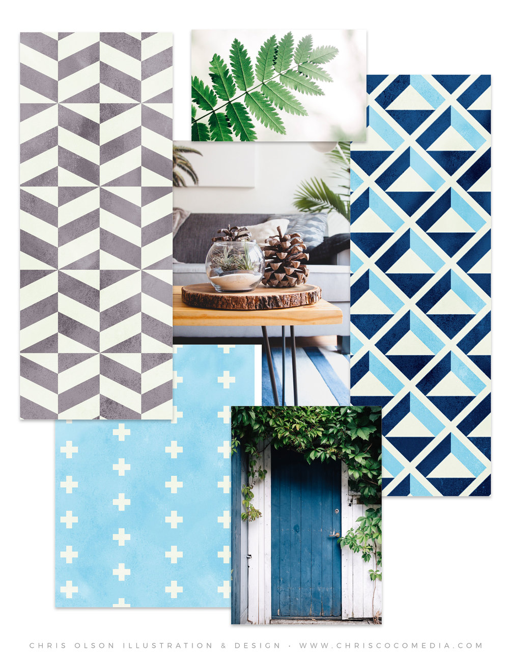 Three new Scandinavian-inspired patterns by Chris Olson.