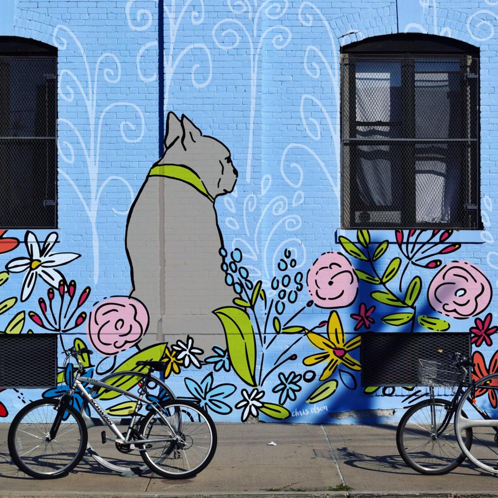 Dog Mural art by Chris Olson
