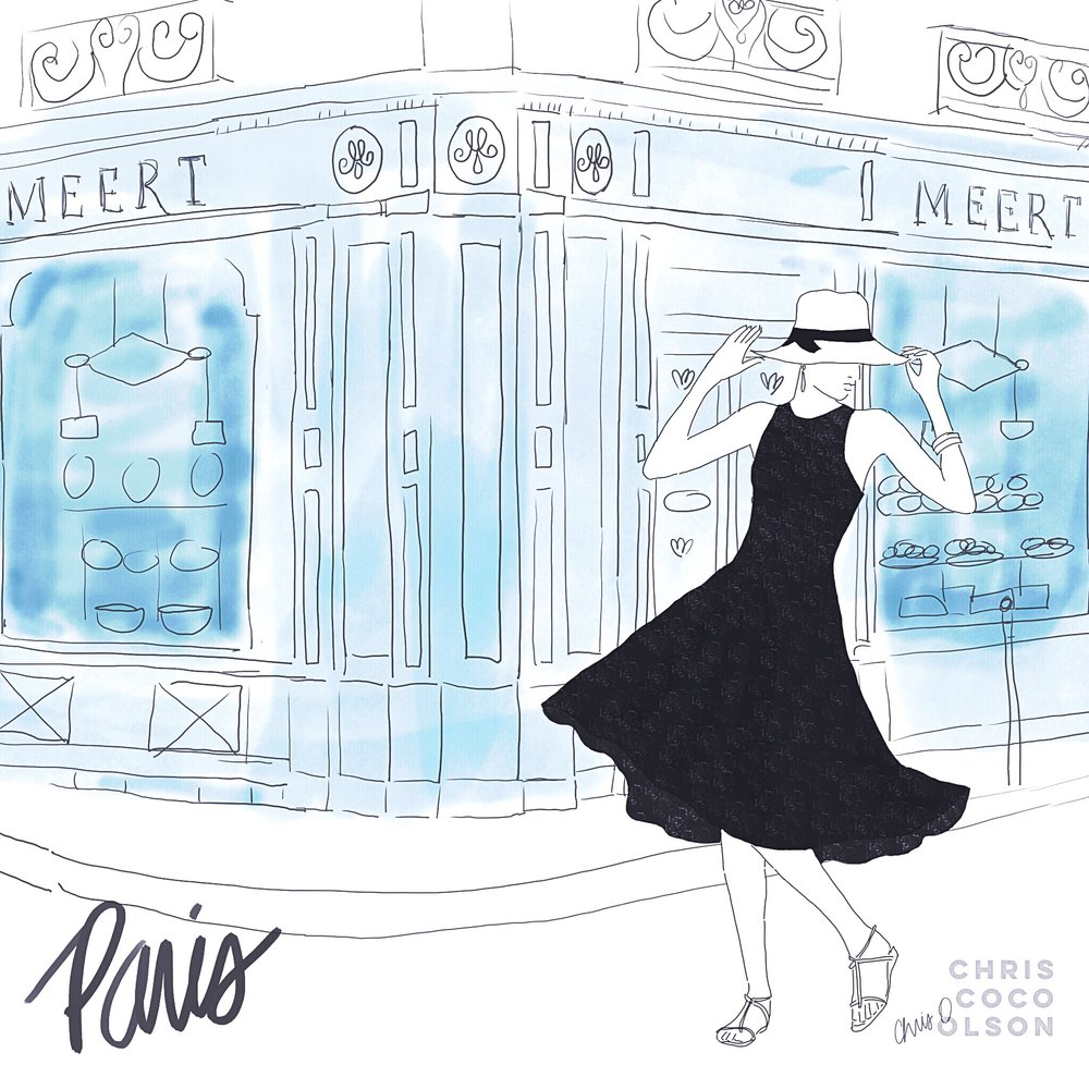 Paris sketch by Chris Olson