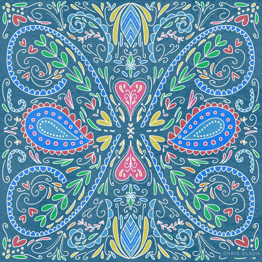 Chris Olson folk art pattern