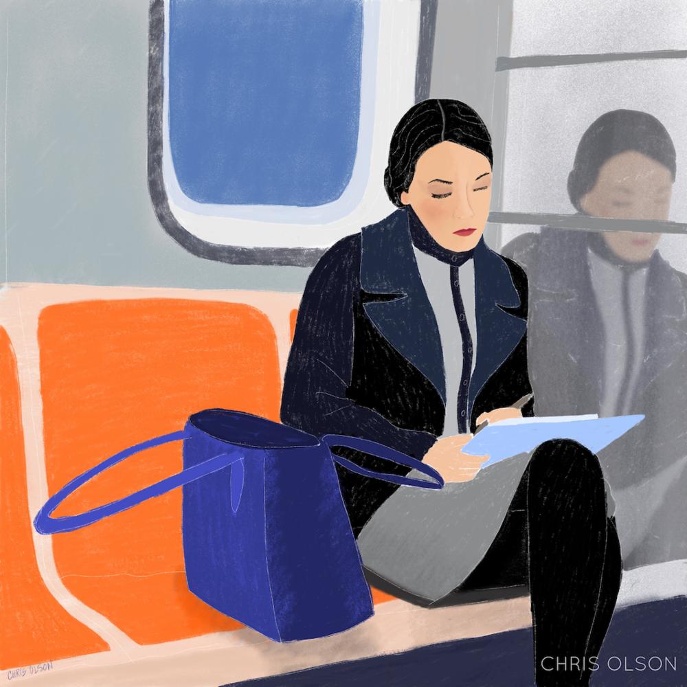 Congresswoman Alexandria Ocasio-Cortez art by Chris Olson
