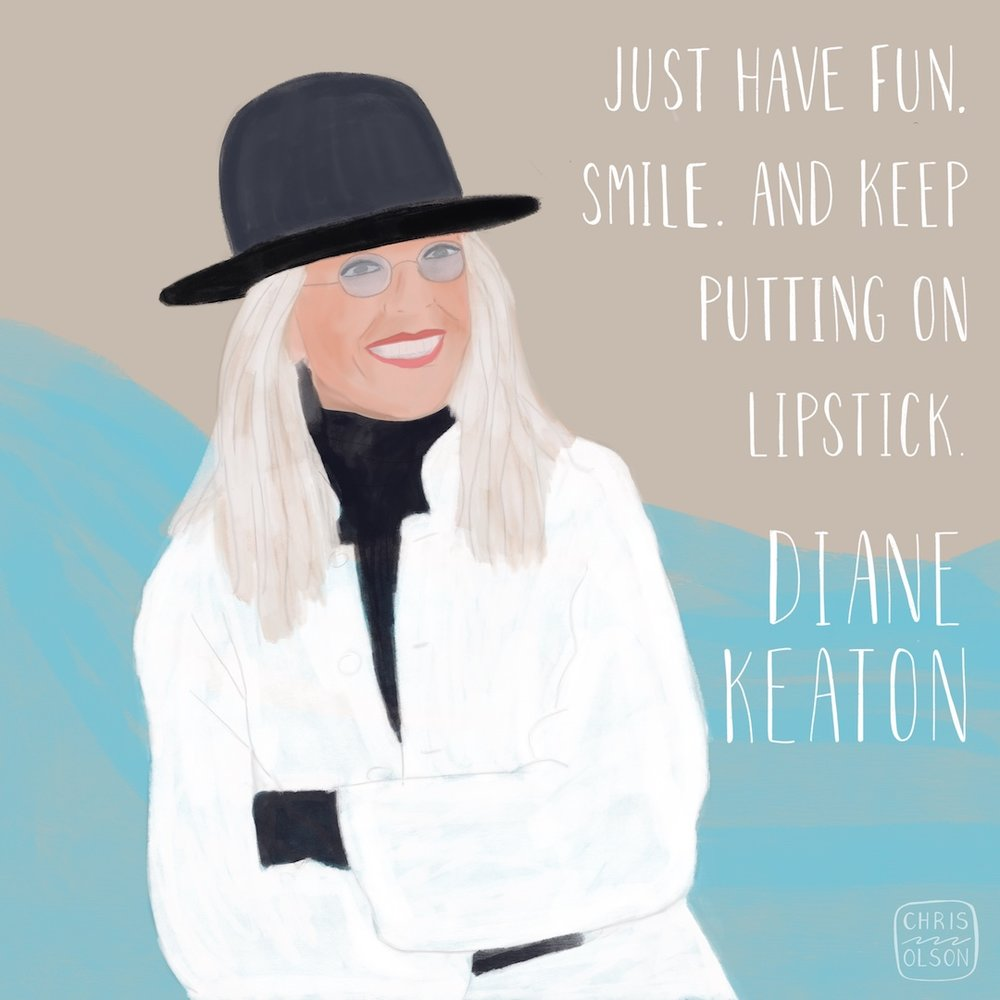 Diane Keaton portrait by Chris Olson