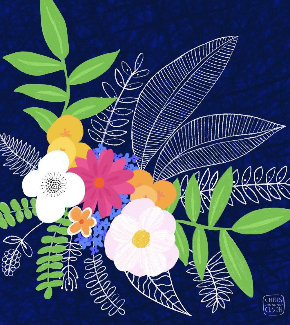 Garden bouquet floral by Chris Olson