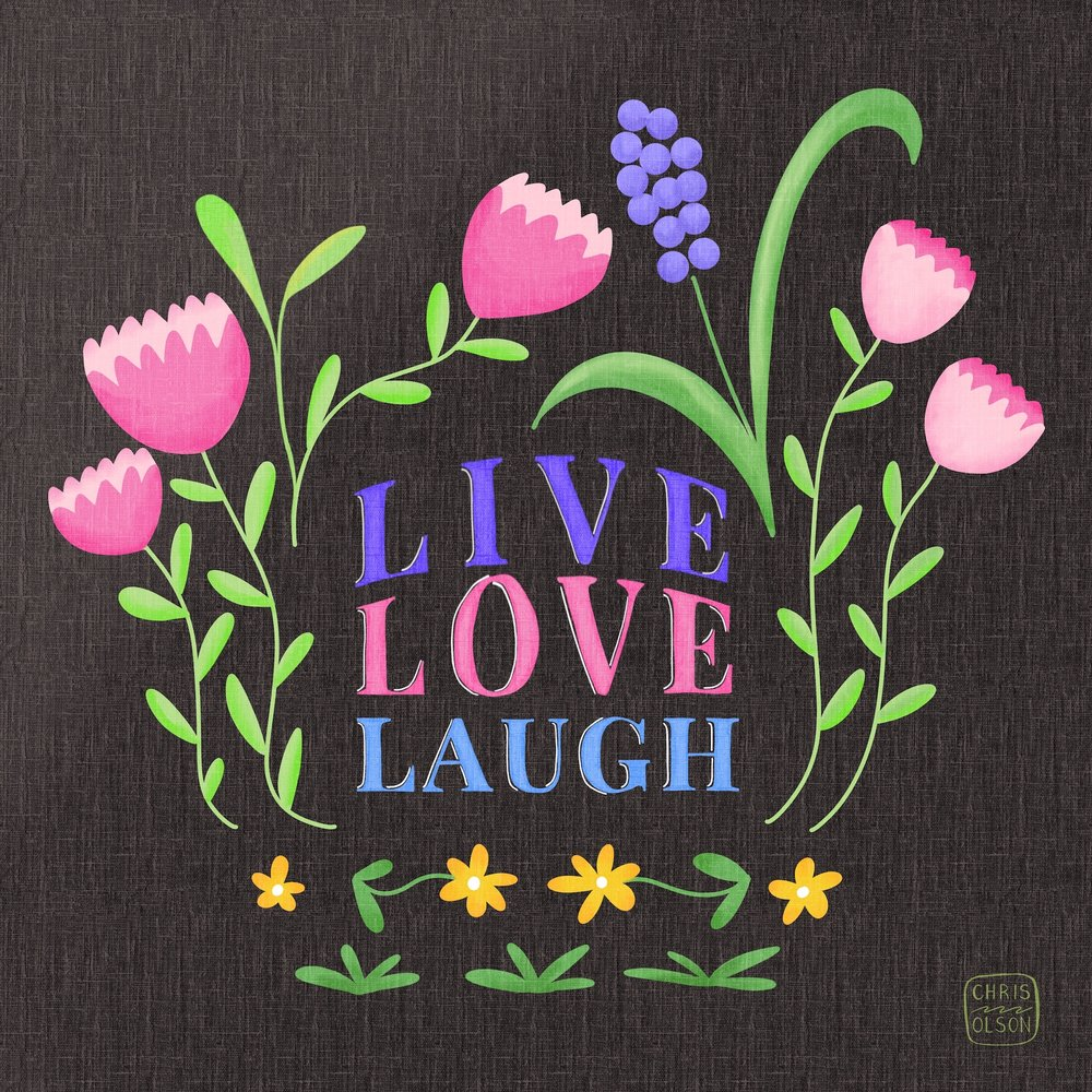 Floral and hand lettering art by Chris Olson