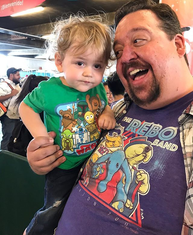 Yep, I'm that dad. • #maythe4thbewithyou #maxrebo #tryingtoohard #cutetshirtday
