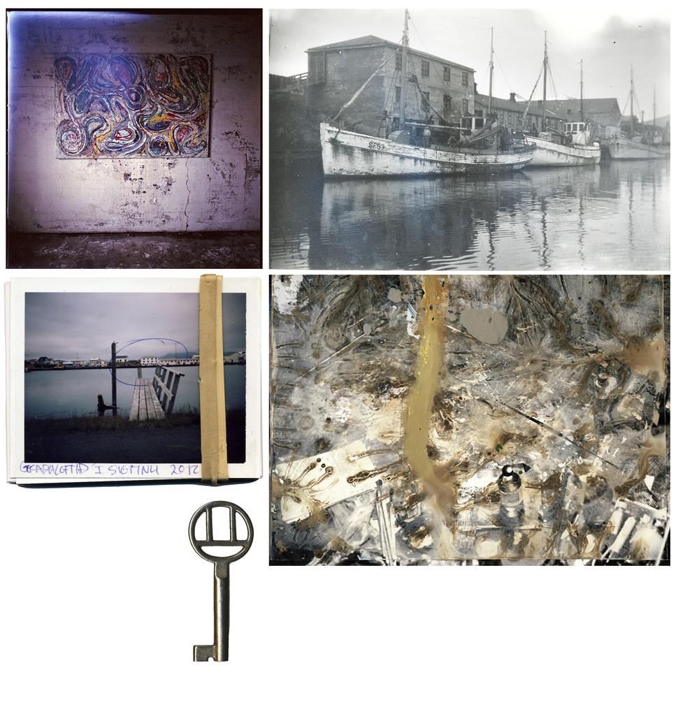 Ljósmyndin hægra megin er í eiguMenningarmiðstöðvar Hornafjarðar.1993-14-13: tekin 1952-54, ljósmyndari: Jóhanna Ólafsdóttir