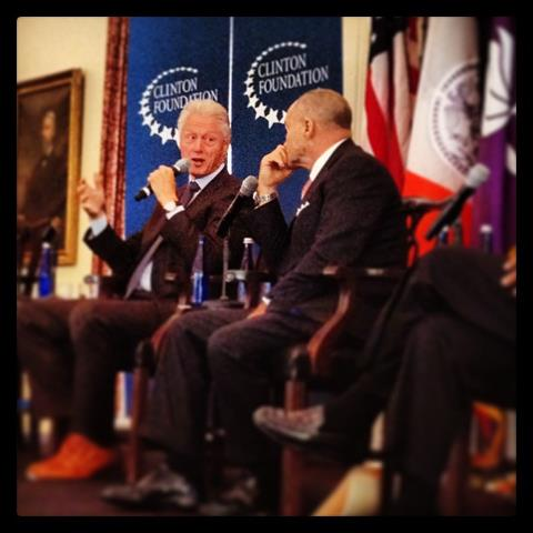 President Bill Clinton and NYPD Commissioner Ray Kelly