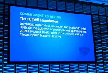 "Our Commitment ""Leverage expert data analytics to help the issue of prescription drug misuse and other key public health crisis"""