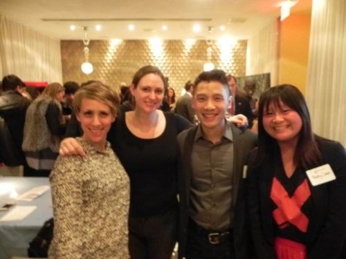February 5, 2014 - Pictured (L-R): Mary Sitzenstatter, Katie Lee, Korey Lee and Pinky Chan at Nexus NYC Salon