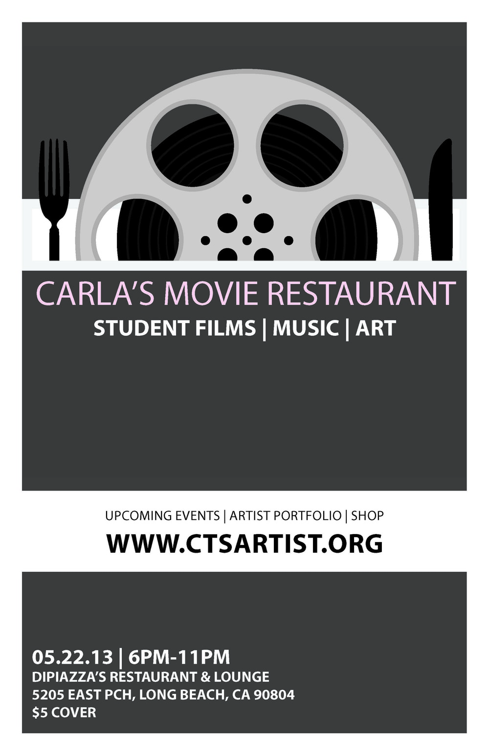 Upcoming date for Carla's Movie Restaurant is 05/22/2013
