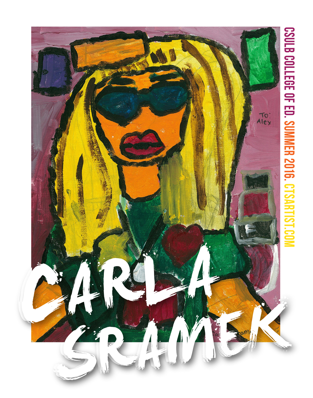 Carla's original artworks will be exhibited at the reception.  -- Reception date to be announced...