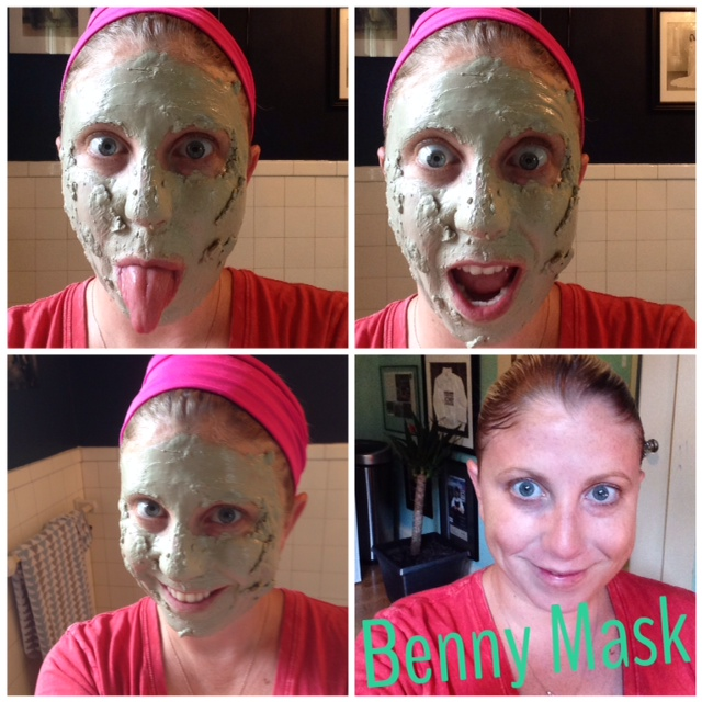 Clay mask before and after