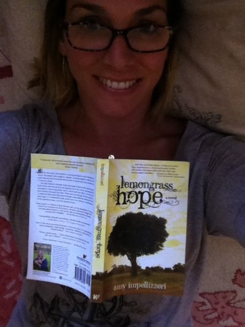 Amy Impellizzeri and her debut novel,  Lemongrass Hope .