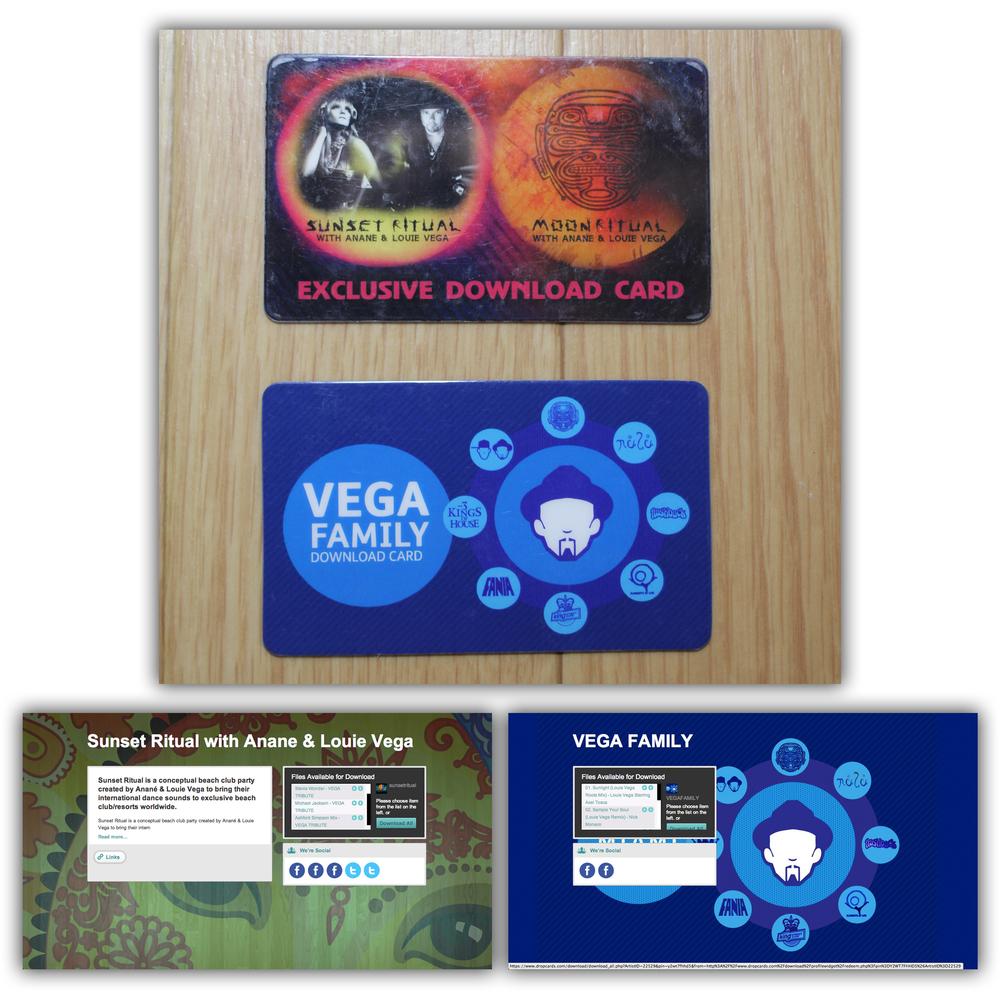 Sunset Ritual and Vega Family Dropcards
