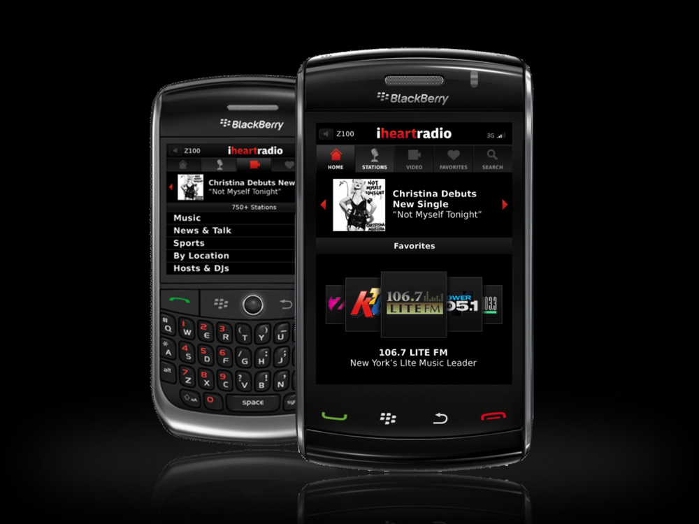iHeartRadio for BlackBerry