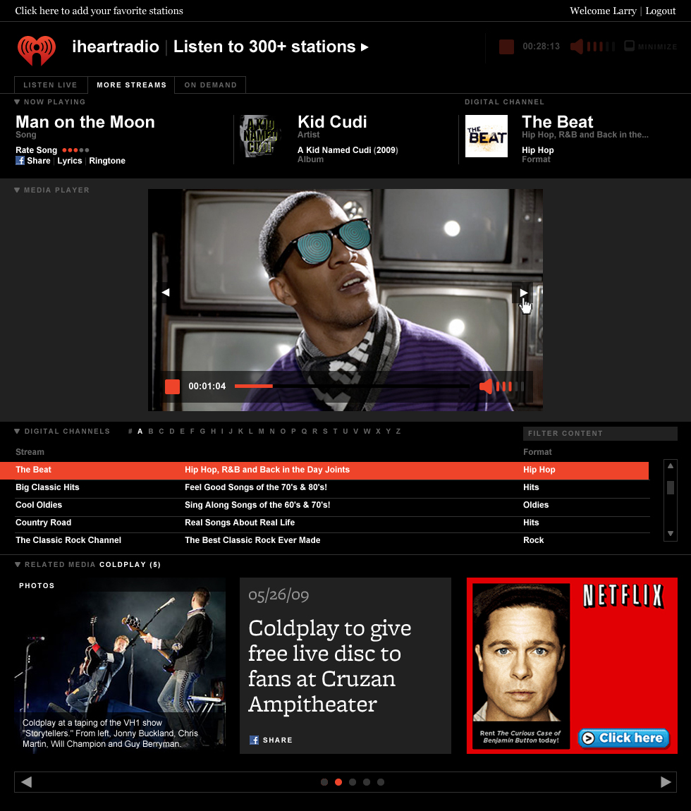 iheartradio media player redesign