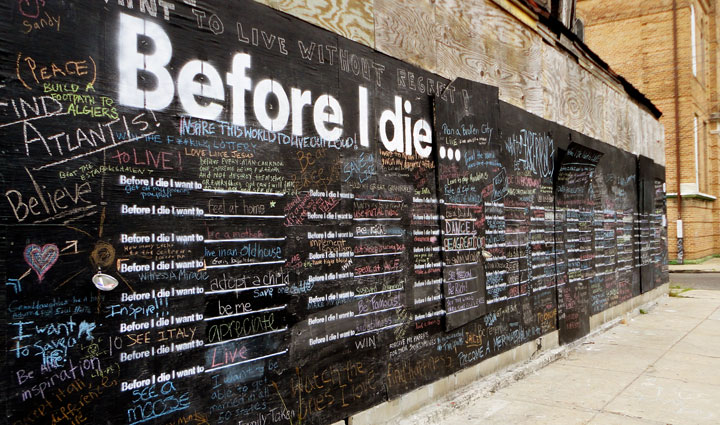Before I Die wall in Brooklyn. Photo by Shake Shack